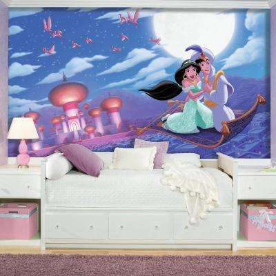 72 in. x 126 in. Aladdin A Whole New World XL Chair Rail 7-Panel Prepasted Mural