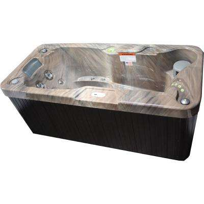 1 Person 19 Jet Rectangle Spa with Stainless Jets and 110-Volt GFCI Cord Included
