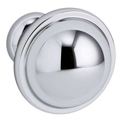 Damask 1 in. Chrome Vanity Round Cabinet Knob