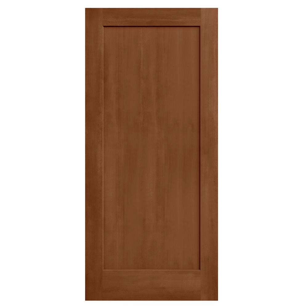 36 in. x 80 in. Madison Hazelnut Stain Solid Core Molded