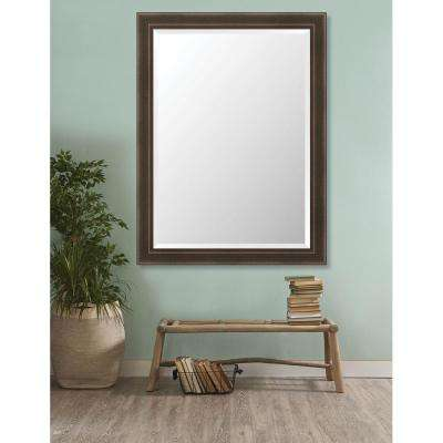 Davenport 35.875 in. x 47.875 in. Forged Industrial Framed Bevel Mirror