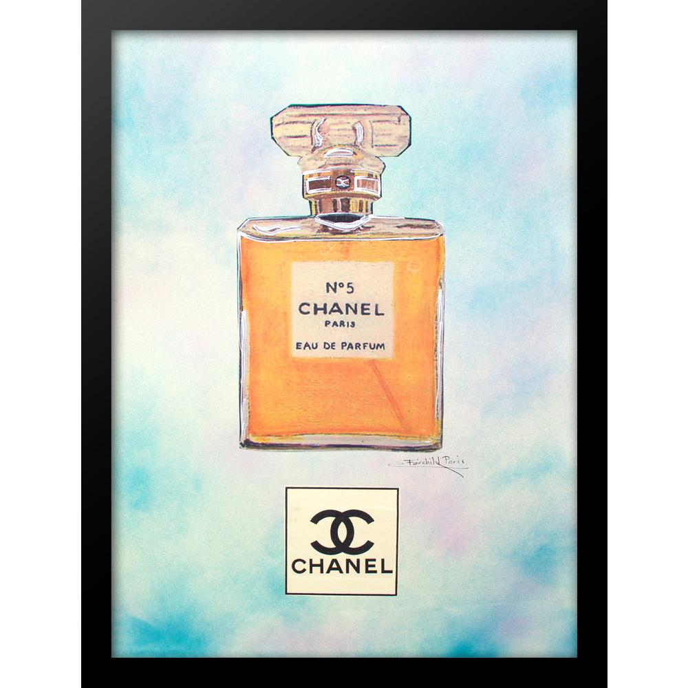 """24 in x 18 in"" ""1946 Watercolor"" Vintage Chanel Ad by"
