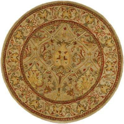 Persian Legend Moss/Beige 8 ft. x 8 ft. Round Area Rug