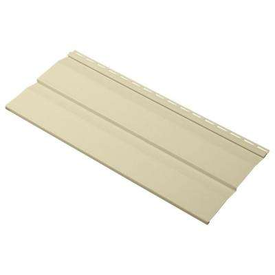 Progressions Double 5 in. x 24 in. Dutch Lap Vinyl Siding Sample in Sunrise Yellow