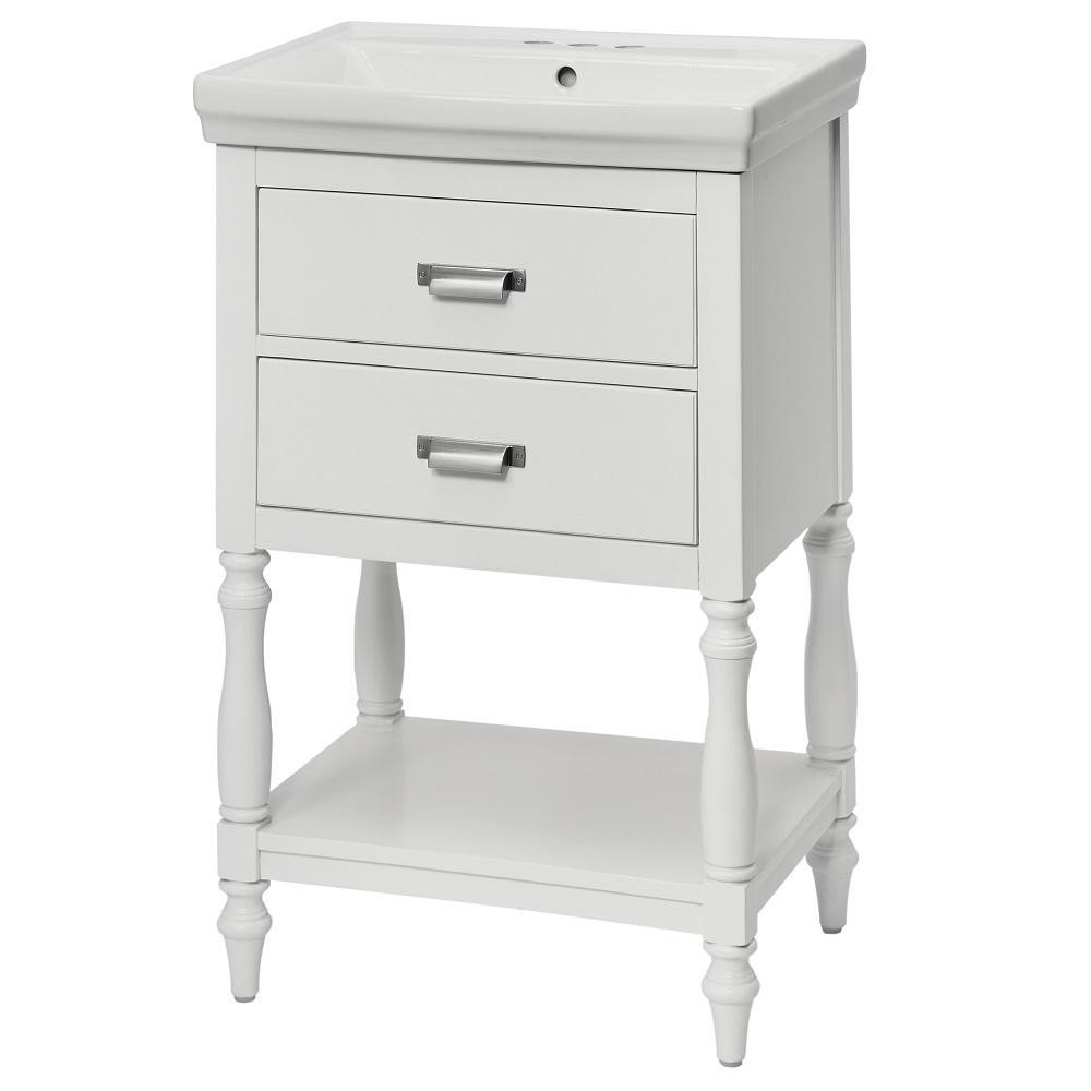 Cherie 24 in. Vanity Combo in White