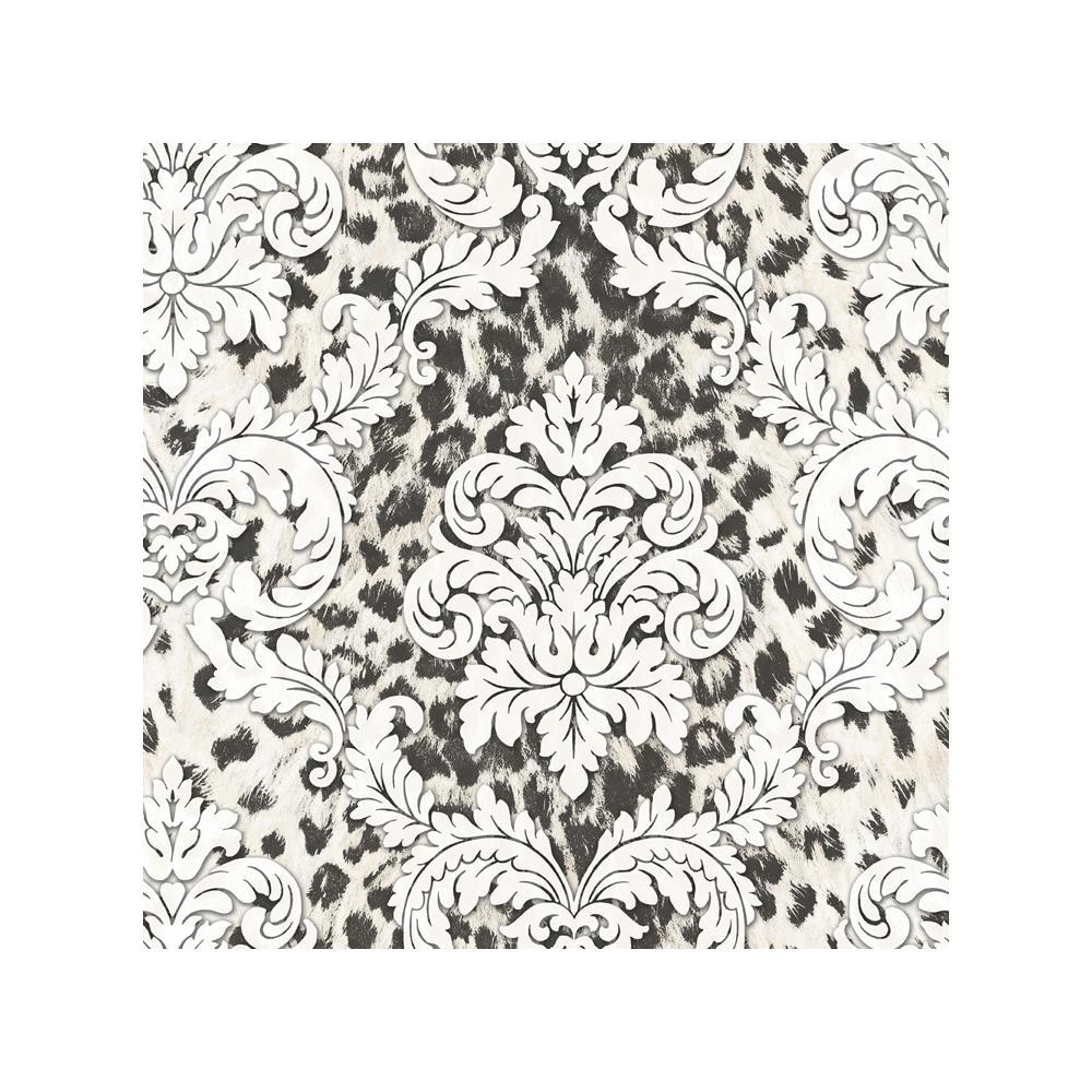 Chesapeake Gabriella Black Ogge Busy Toss Wallpaper Sample CHR11703SAM