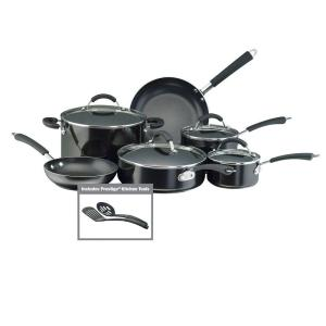 Farberware Millennium 12-Piece Black Cookware Set with Lids by Farberware