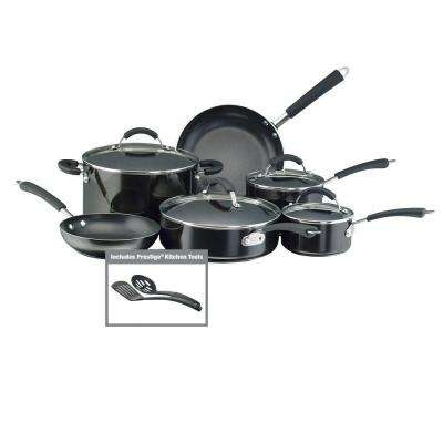 Millennium 12-Piece Black Cookware Set with Lids