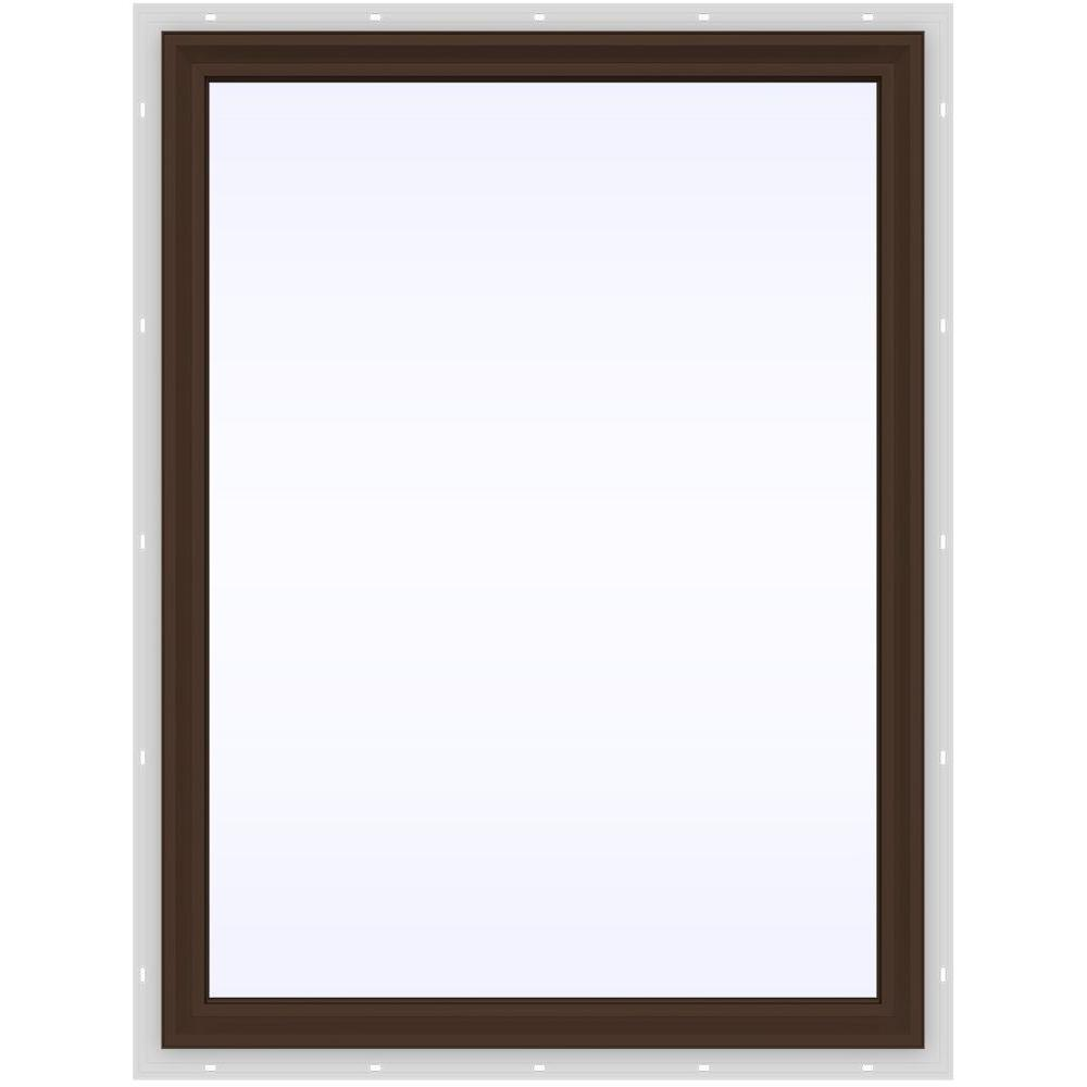 JELD-WEN 35.5 in. x 47.5 in. V-2500 Series Fixed Picture Vinyl Window - Brown