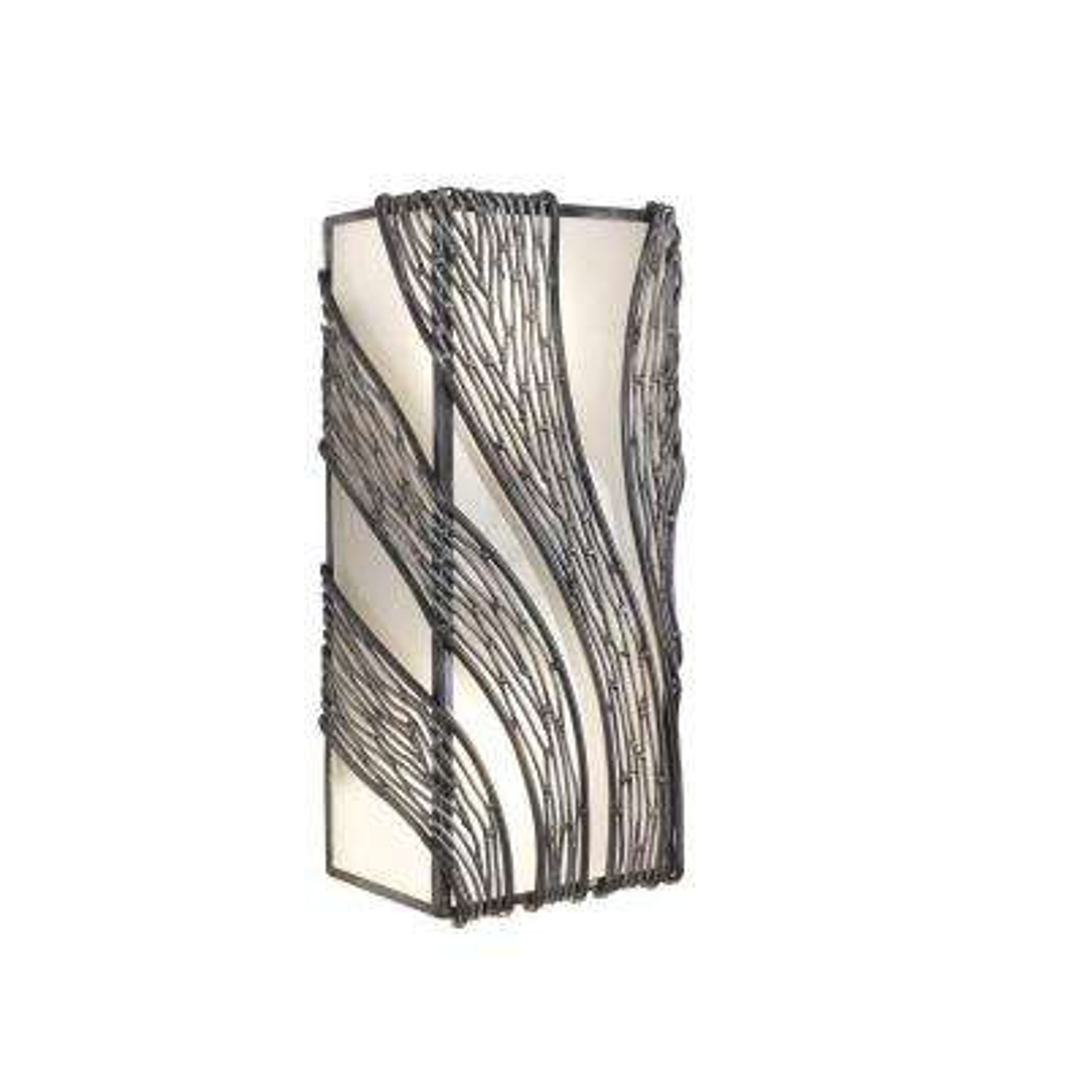 Flow 2-Light Steel Vertical Sconce