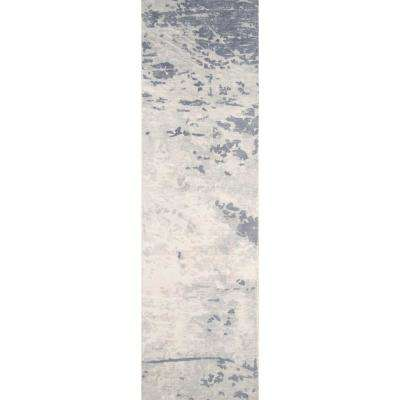 Illusions Blue 2 ft. x 8 ft. Indoor Runner Rug
