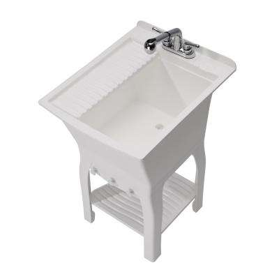 20.5 in. x 25.75 in. x 35.25 in. Polypropylene Free Standing Sink The Fitz Workstation - Fully Loaded Sink Kit