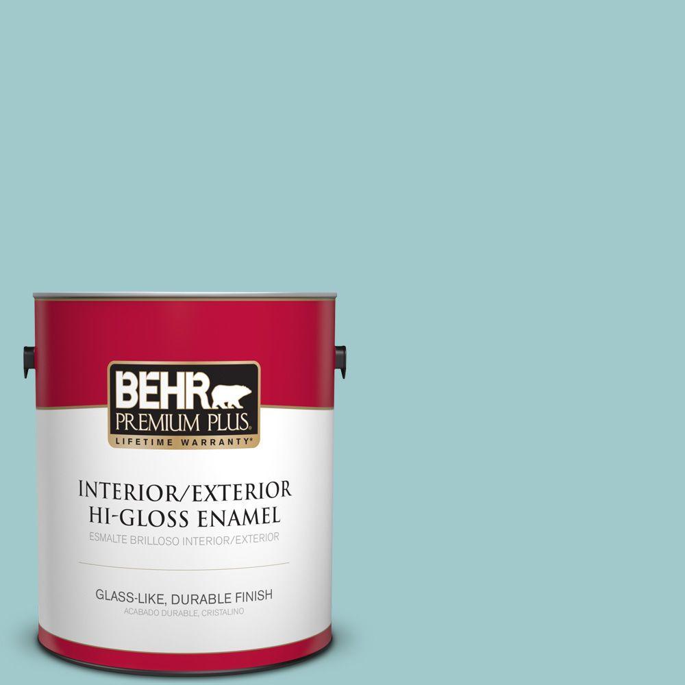 1 gal. #HDC-SP16-08 Blue Bell Hi-Gloss Enamel Interior/Exterior Paint
