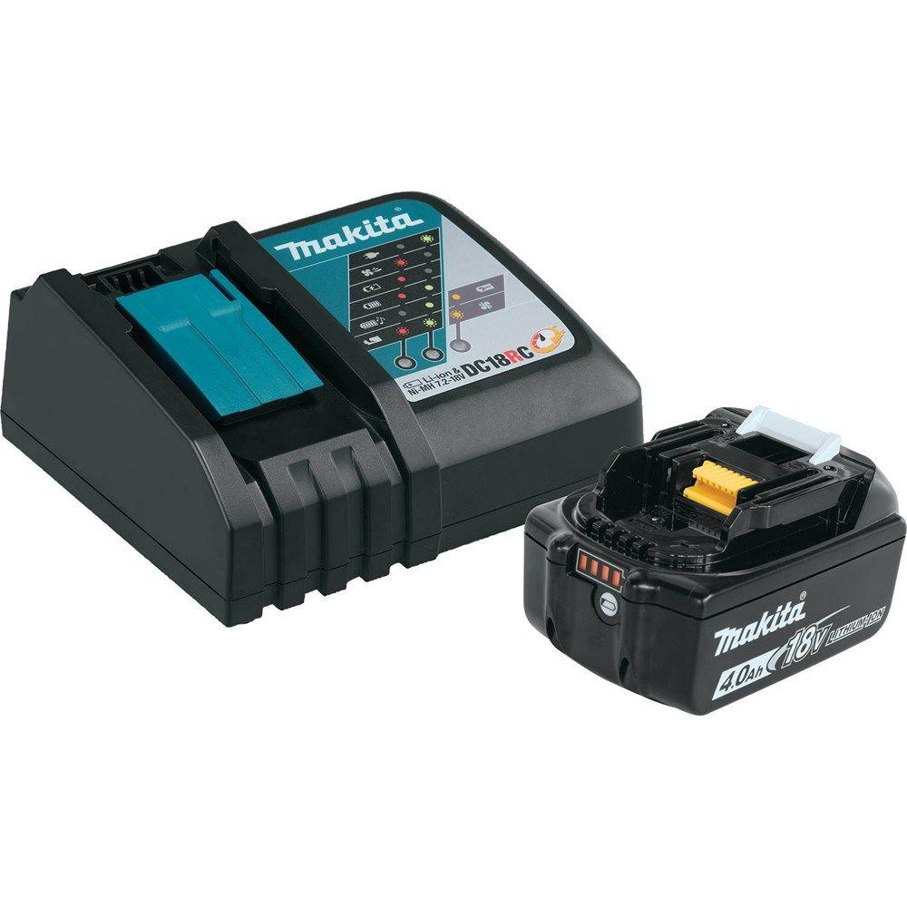 Makita 18-Volt LXT Lithium-Ion High Capacity Battery Pack 4.0Ah with Fuel Gauge and Charger Starter Kit