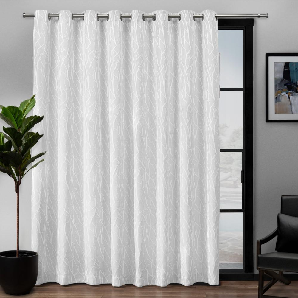 Attrayant Exclusive Home Curtains Forest Hill Patio Woven Blackout Grommet Top  Curtain Panel In White   108