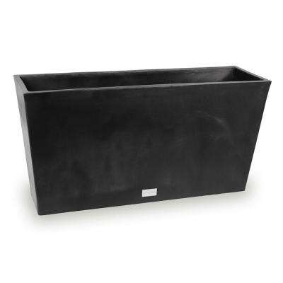 Midori 31 in. x 9 in. Black Trough Plastic Planter