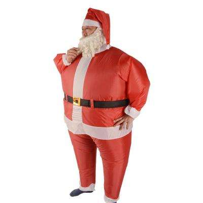 6 ft. Inflatable Santa Claus Costume with Beard and Hat