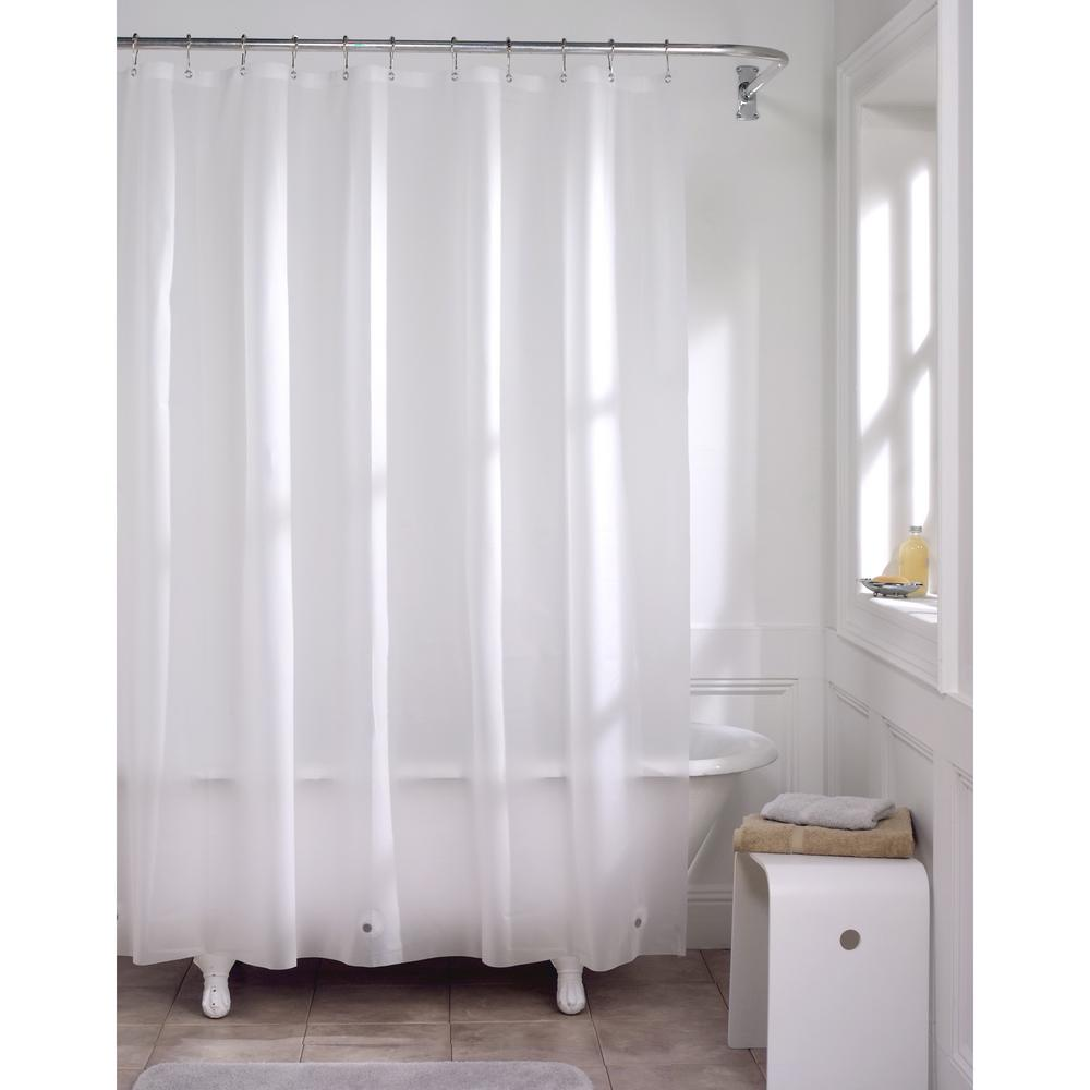 f4b7adbe3 Glacier Bay PEVA Premium 8-Gauge 72 in. Shower Curtain Liner in Frosted  Clear