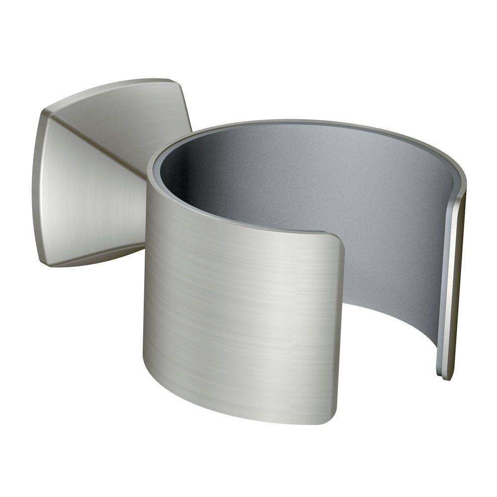 Voss Wall Mounted Hair Dryer Holder in Brushed Nickel
