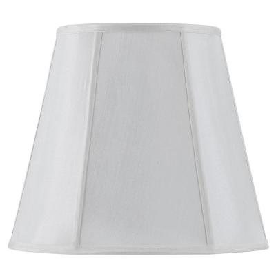 16 in. White Vertical Piped Deep Empire Shade