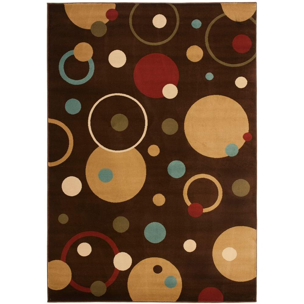 Porcello Brown/Multi 4 ft. x 5 ft. 7 in. Area Rug
