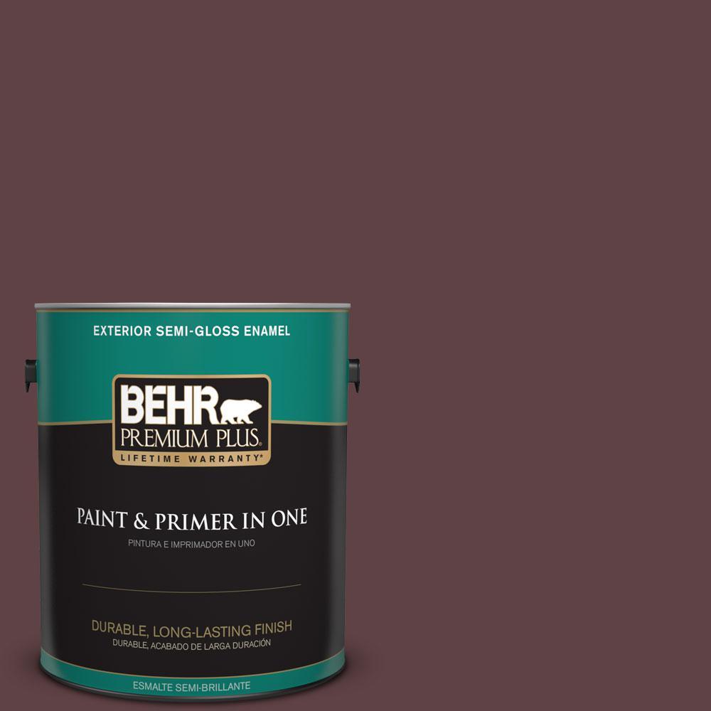 BEHR Premium Plus 1-gal. #S-G-700 Wild Raisin Semi-Gloss Enamel Exterior Paint