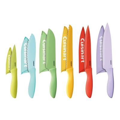12-Piece Ceramic Coated Color Knife Set with Blade Guards
