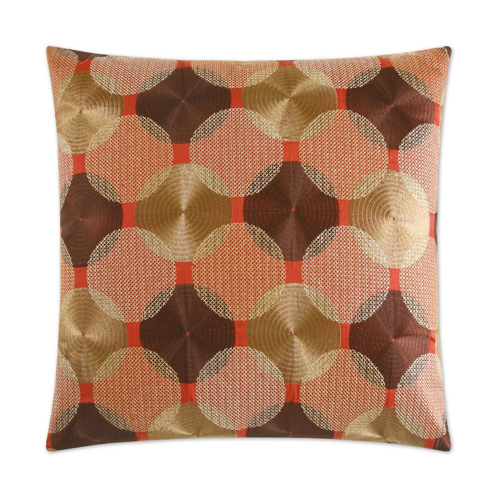 Braxton Garnet Feather Down 24 in. x 24 in. Standard Decorative Throw Pillow