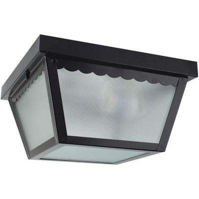 2-Light Black Outdoor Builder Light