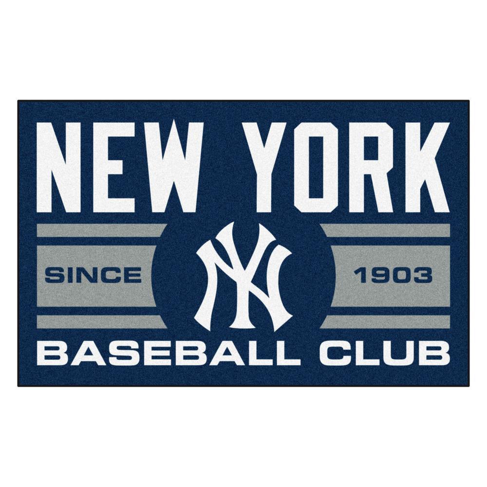 MLB New York Yankees Navy Blue 2 ft. x 3 ft. Area Rug