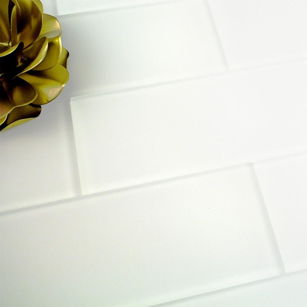 Ivy Hill Tile Contempo Bright White Frosted 4 In X 12 In X 8 Mm