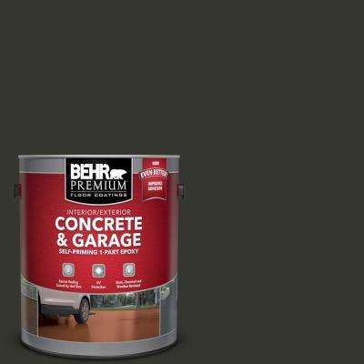 1 gal. #PPF-59 Raven Black Self-Priming 1-Part Epoxy Satin Interior/Exterior Concrete and Garage Floor Paint