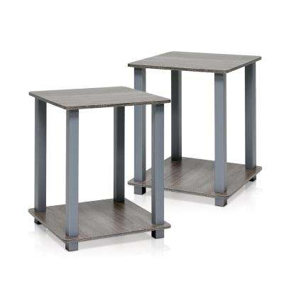 Simplistic French Oak Grey End Table (2-Pack)