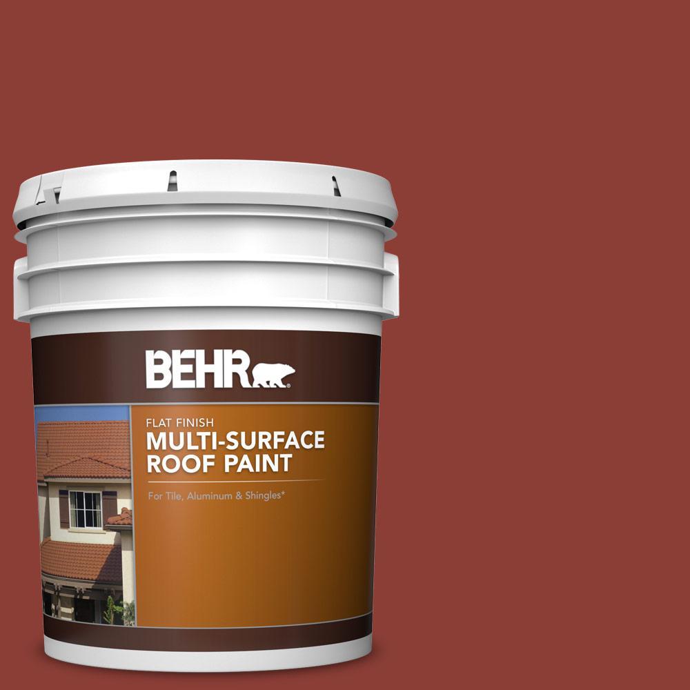 5 gal. #PFC-10 Deep Terra Cotta Flat Multi-Surface Exterior Roof Paint