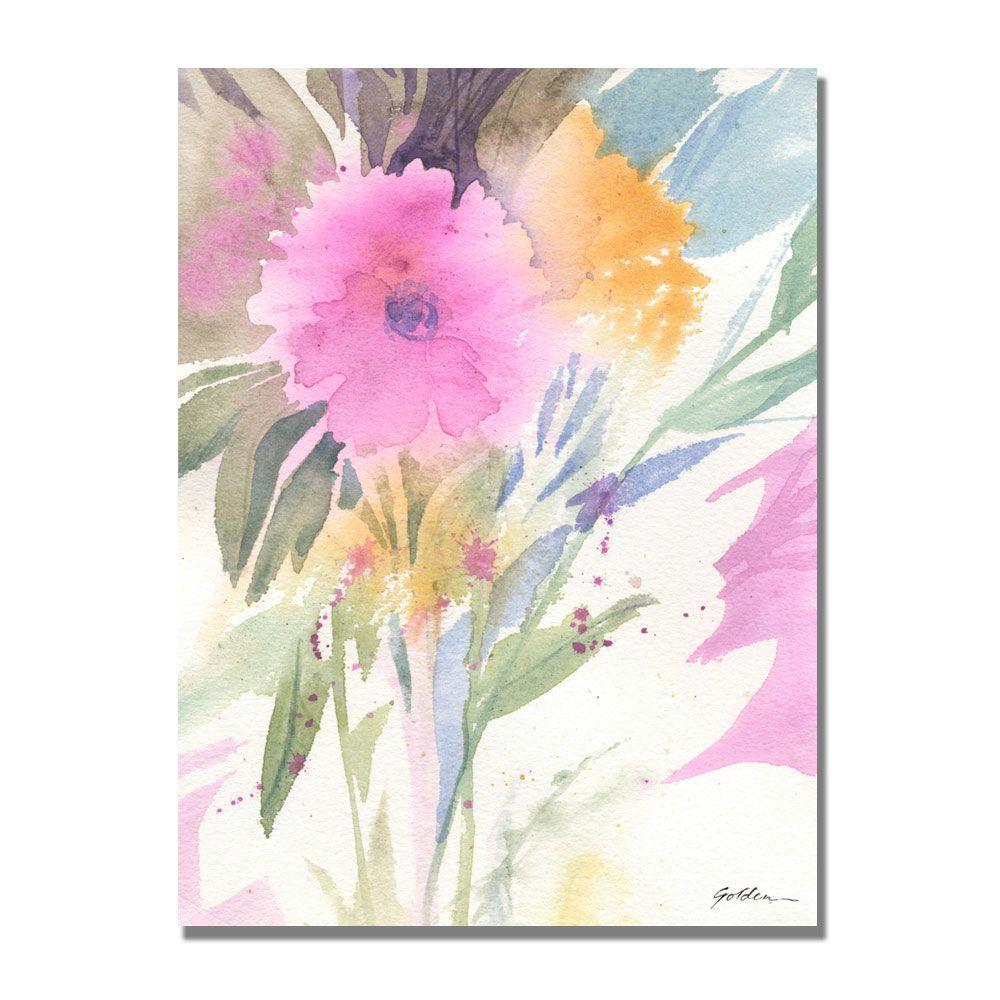 35 in. x 47 in. Deep Pink Haze Canvas Art