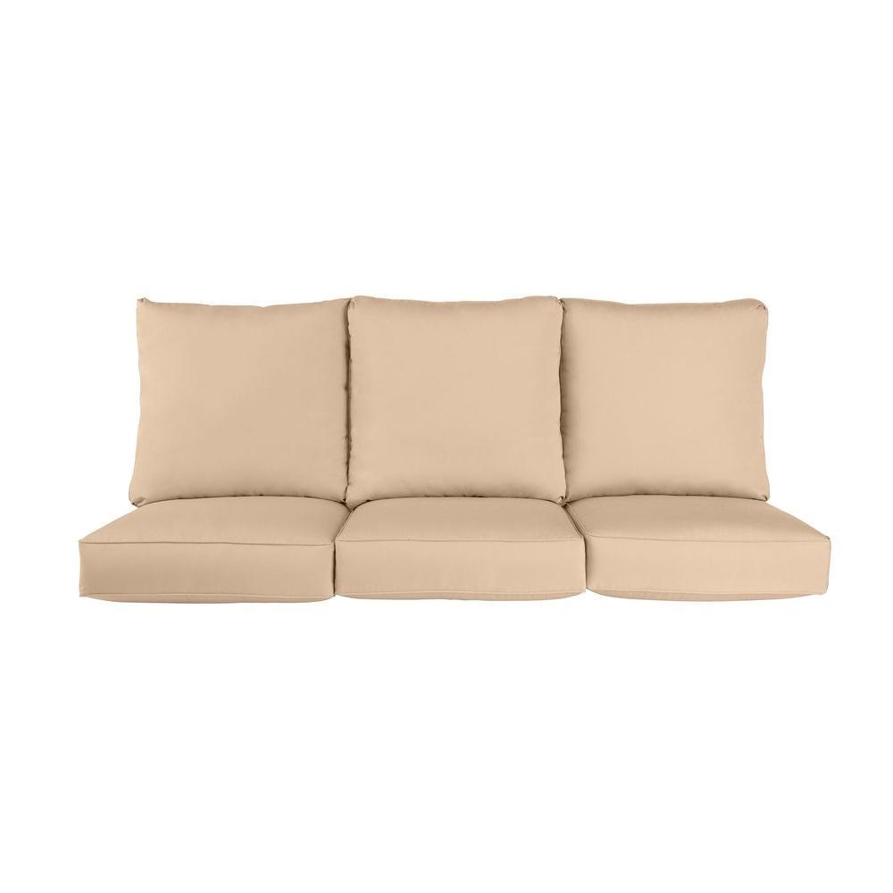 brown jordan vineyard replacement outdoor sofa cushion in harvest m11097 sc2 the home depot. Black Bedroom Furniture Sets. Home Design Ideas