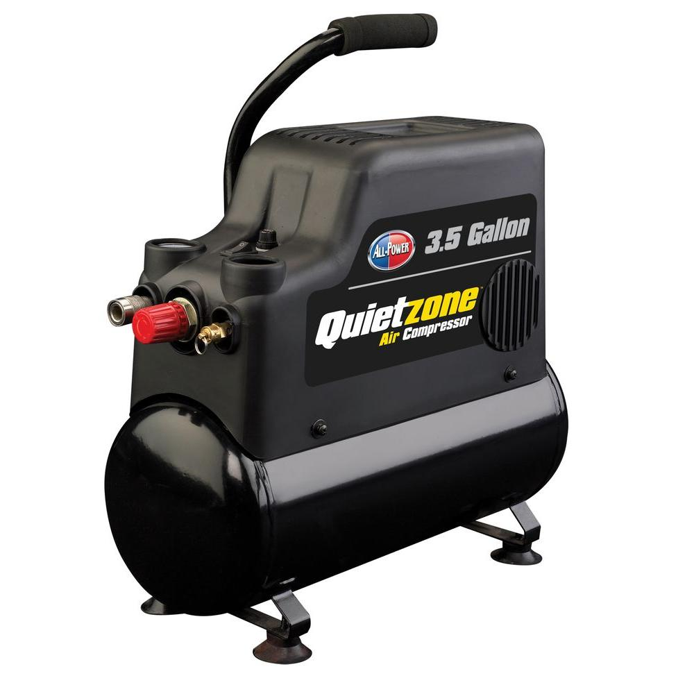 null All Power 3.5-Gal. Electric Portable Quietzone Air Compressor-DISCONTINUED