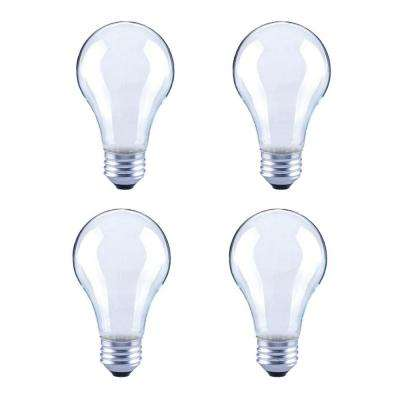 60-Watt Equivalent A19 Dimmable Frosted Vintage Edison Filament LED Light Bulb Bright White (4-Pack)