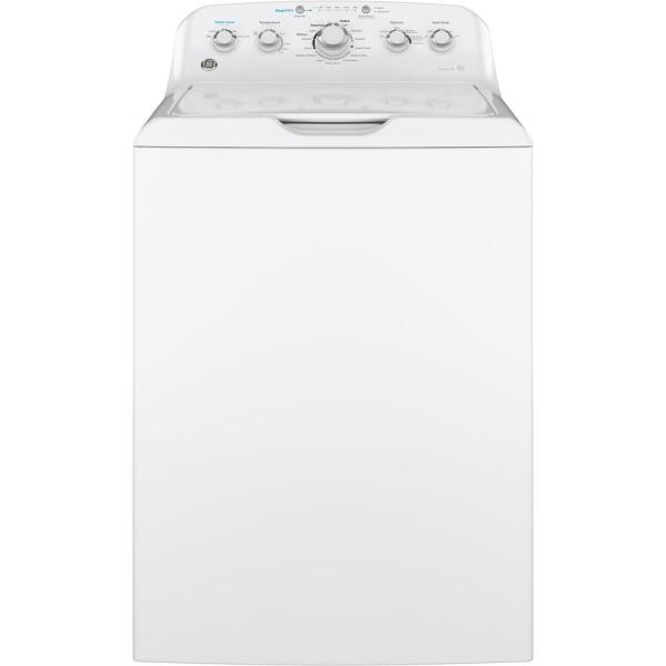 4.5 cu. ft. High-Efficiency White Top Load Washing Machine with Stainless Steel Basket