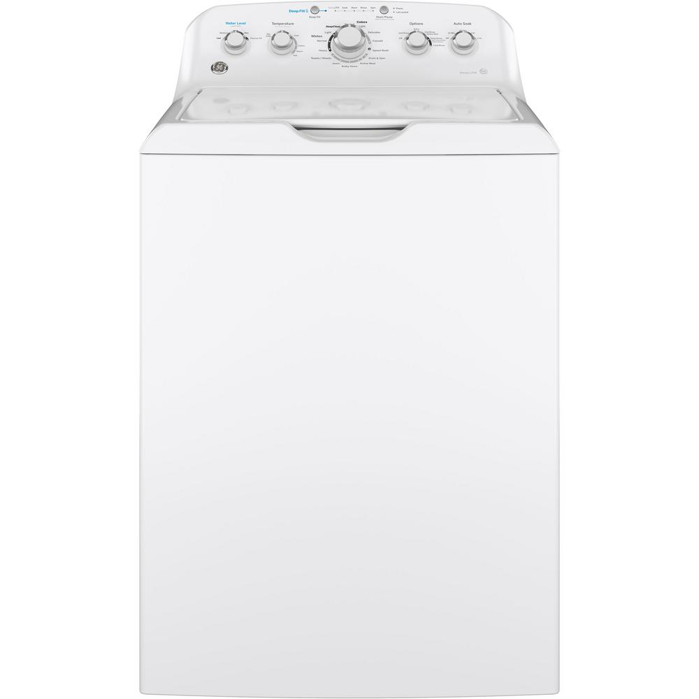 4.5 cu. ft. High-Efficiency White Top Load Washing Machine with Stainless