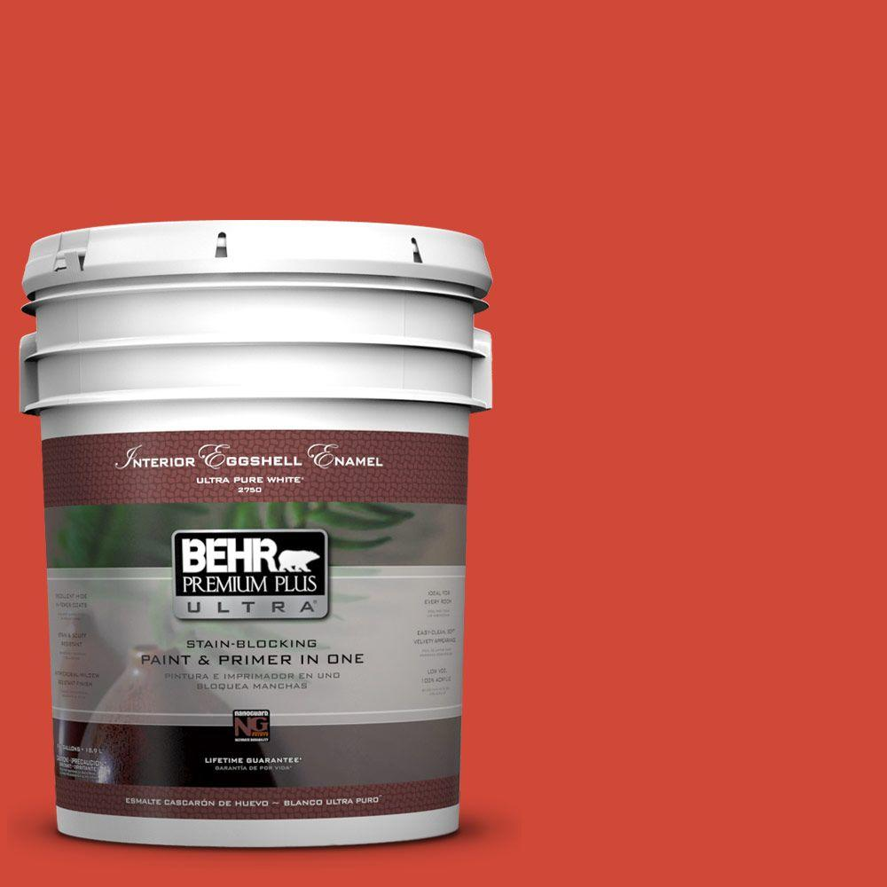 BEHR Premium Plus Ultra 5-gal. #P180-7 Top Tomato Eggshell Enamel Interior Paint