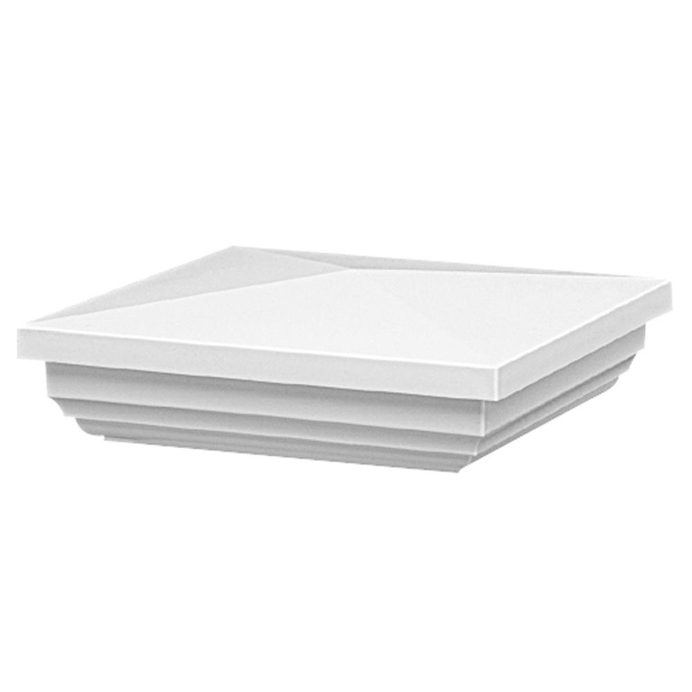 Veranda 5 in. x 5 in. White Vinyl New England Post Cap