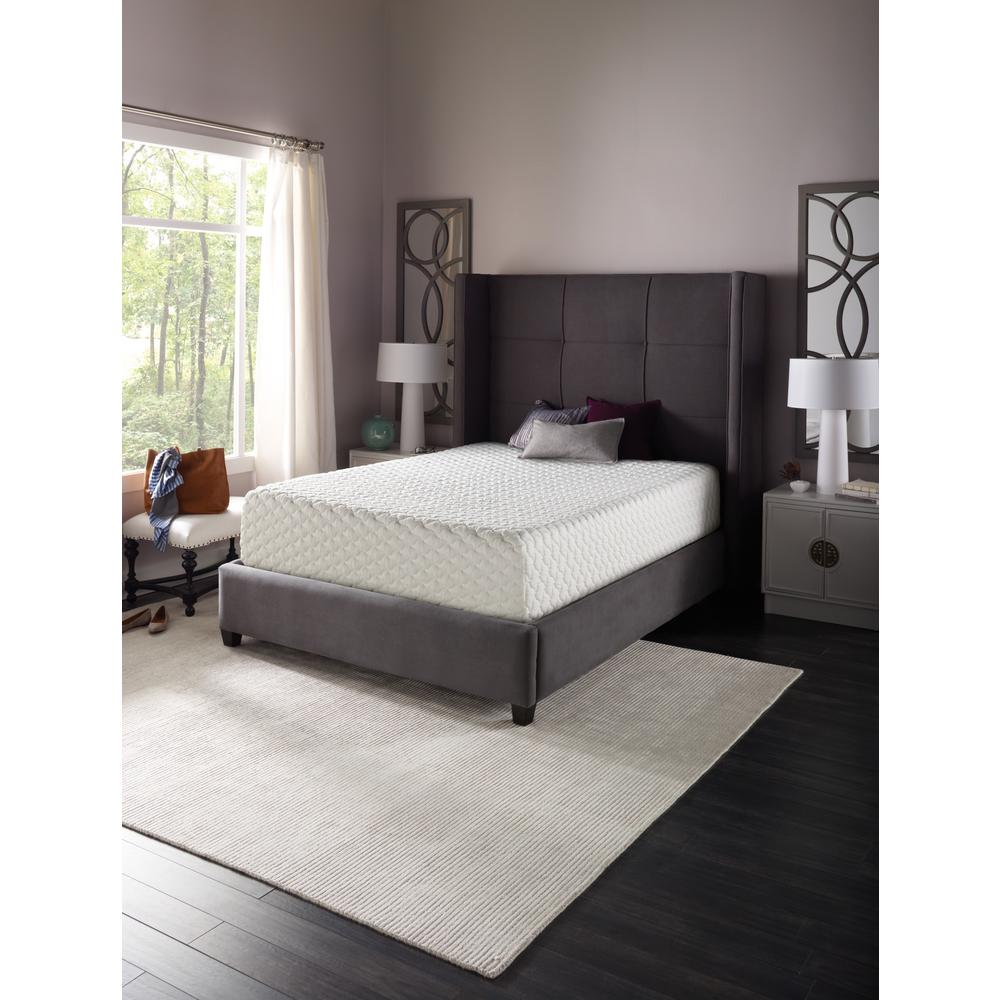 beautyrest 12 in queen gel memory foam mattress 700753694 1050 the home depot. Black Bedroom Furniture Sets. Home Design Ideas