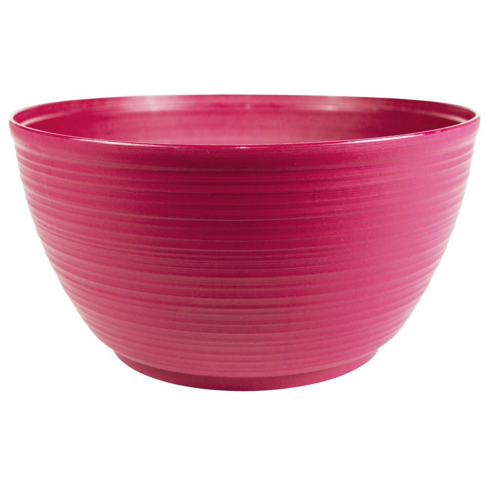 Dura Cotta 15 in. Amaranth Plastic Plant Bowl