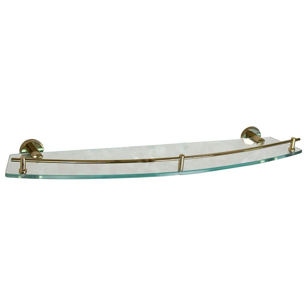 Barclay Products Berlin 24 in. W Shelf in Glass and Polished Brass
