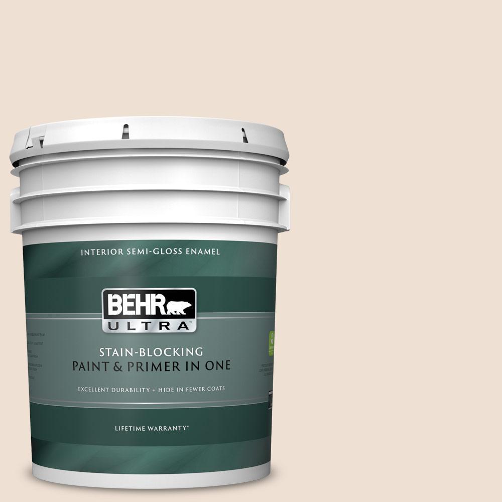 BEHR ULTRA 5 gal  #PWN-43 Calming Retreat Semi-Gloss Enamel Interior Paint  and Primer in One