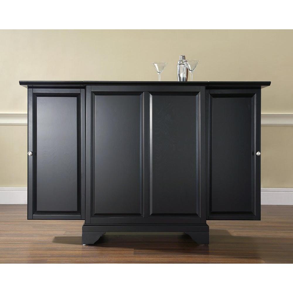 LaFayette Black Bar with Expandable Storage