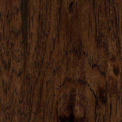 Take Home Sample - Hand Scraped Distressed Alvarado Hickory 1/2 in. Thick Engineered Hardwood Flooring 5 in. x 7 in.