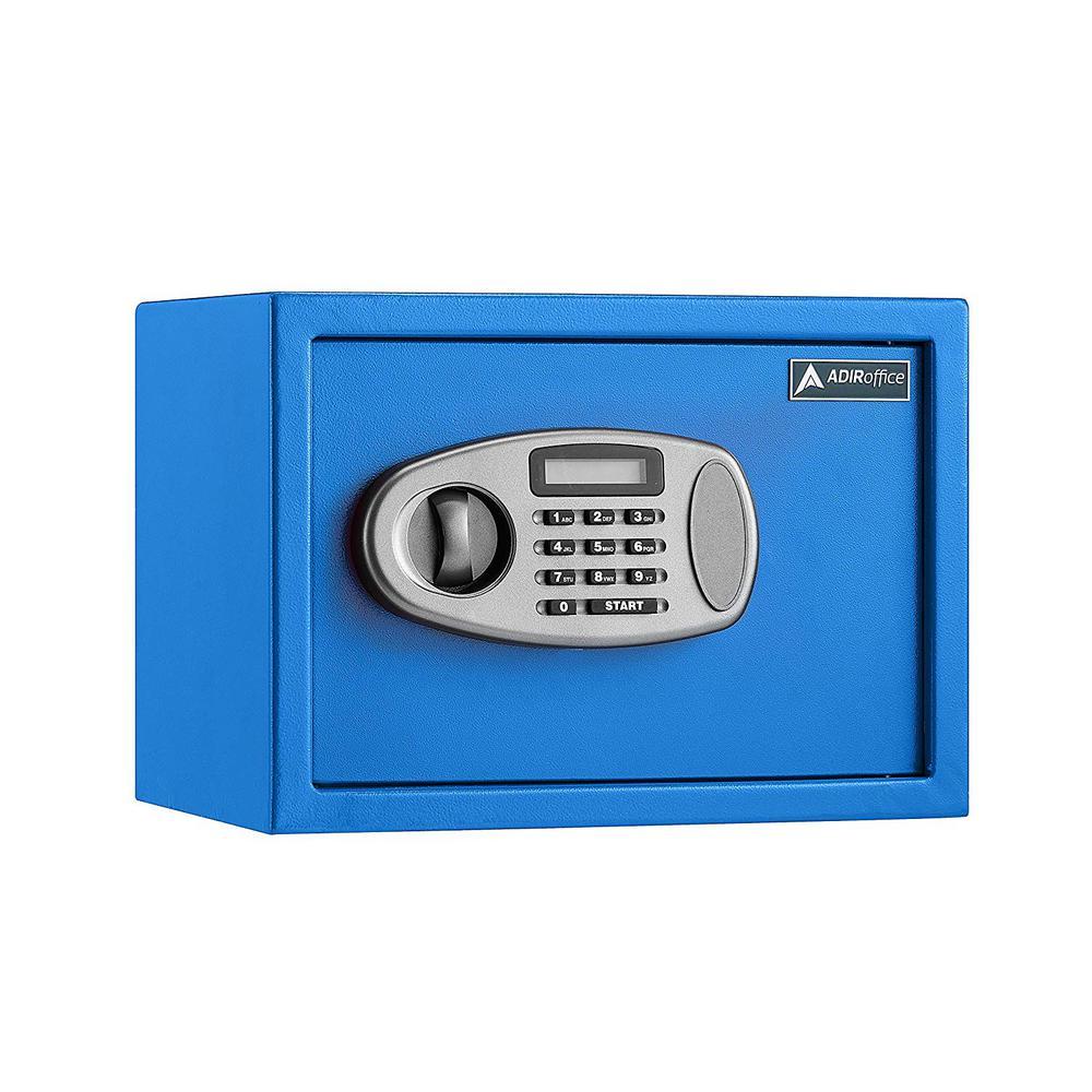 0.5 cu. ft. Steel Security Safe with Digital Lock, Blue