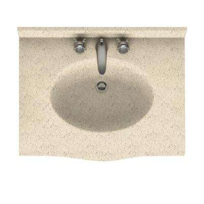 Europa 25 in. Solid Surface Vanity Top with Basin in Tahiti Desert